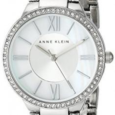 Anne Klein Women's AK 1795MPSV Swarovski | 100% original, import SUA, 10 zile lucratoare af22508 - Ceas dama Anne Klein, Elegant, Quartz, Analog