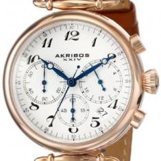 Akribos XXIV Women's AK630TN Rose-Tone Stainless | 100% original, import SUA, 10 zile lucratoare af22508, Casual, Quartz, Analog