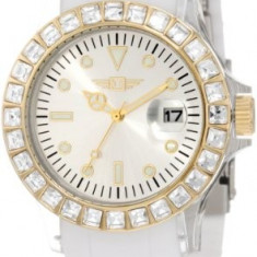 Invicta Women's IBI-10067-006 Gold Dial White | 100% original, import SUA, 10 zile lucratoare af22508 - Ceas dama Invicta, Casual, Quartz, Analog