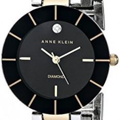 Anne Klein Women's AK 1807BKTT Diamond-Accented | 100% original, import SUA, 10 zile lucratoare af22508 - Ceas dama Anne Klein, Analog