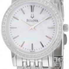 Bulova Women's 96R164 Round Diamond Bezel   100% original, import SUA, 10 zile lucratoare af22508 - Ceas dama Bulova, Analog