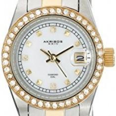 Akribos XXIV Women's AK489TTG Two-Tone Stainless | 100% original, import SUA, 10 zile lucratoare af22508, Elegant, Quartz, Analog
