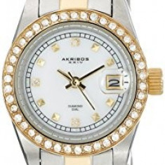 Akribos XXIV Women's AK489TTG Two-Tone Stainless | 100% original, import SUA, 10 zile lucratoare af22508 - Ceas dama Akribos, Elegant, Quartz, Analog