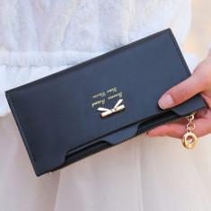 Portofel Fashion Dama Plic Piele - CALITATE FOARTE BUNA !  NEGRU