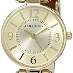 Anne Klein Women's 109442CHHY Gold-Tone Champagne | 100% original, import SUA, 10 zile lucratoare af22508 - Ceas dama Anne Klein, Analog