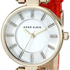 Anne Klein Women's AK 1950MPRD Gold-Tone | 100% original, import SUA, 10 zile lucratoare af22508 - Ceas dama Anne Klein, Elegant, Quartz, Analog