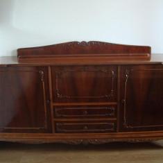 Mobilier sufragerie lemn masiv nuc Madrigal - Set mobila living