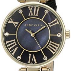 Anne Klein Women's AK 1396BMBK Gold-Tone | 100% original, import SUA, 10 zile lucratoare af22508 - Ceas dama Anne Klein, Elegant, Quartz, Analog