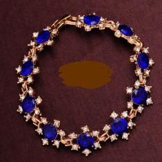 Bratara filata in aur de 18 k si cristale austriene - Bratara Swarovski