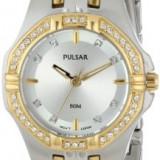 Pulsar Women's PTC388 Crystal Accented Two-Tone | 100% original, import SUA, 10 zile lucratoare af22508 - Ceas dama Pulsar, Analog