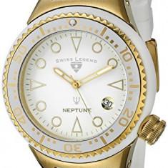 Swiss Legend Women's 11044D-YG-02-WHT Neptune White | 100% original, import SUA, 10 zile lucratoare af22508 - Ceas dama Swiss Legend, Casual, Quartz, Analog