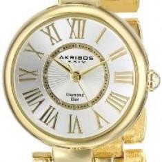 Akribos XXIV Women's AK679YG Lady Diamond | 100% original, import SUA, 10 zile lucratoare af22508 - Ceas dama Akribos, Elegant, Quartz, Analog
