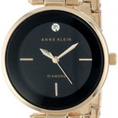 Anne Klein Women's AK 1414BKGB Diamond-Accented   100% original, import SUA, 10 zile lucratoare af22508 - Ceas dama