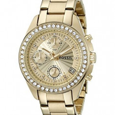 Fossil Women's ES2683 Decker Gold-Tone Stainless | 100% original, import SUA, 10 zile lucratoare af22508 - Ceas dama Fossil, Analog