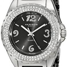 Akribos XXIV Women's AK514BK Ceramic Crystal | 100% original, import SUA, 10 zile lucratoare af22508, Casual, Quartz, Analog