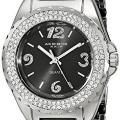 Akribos XXIV Women's AK514BK Ceramic Crystal | 100% original, import SUA, 10 zile lucratoare af22508 - Ceas dama Akribos, Casual, Quartz, Analog