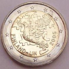 FINLANDA moneda 2 euro comemorativa 2005 - UNC