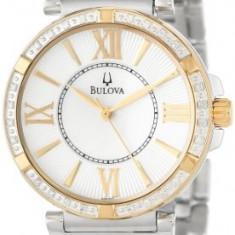 Bulova Women's 98R167 Diamond Case Watch | 100% original, import SUA, 10 zile lucratoare af22508 - Ceas dama Bulova, Analog