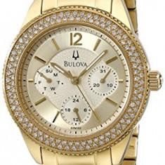 Bulova Women's 97N102 Multi-Function Crystal Bracelet | 100% original, import SUA, 10 zile lucratoare af22508 - Ceas dama Bulova, Analog