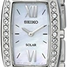 Seiko Women's SUP083 Crystal-Accented Stainless Steel | 100% original, import SUA, 10 zile lucratoare af22508 - Ceas dama Seiko, Analog