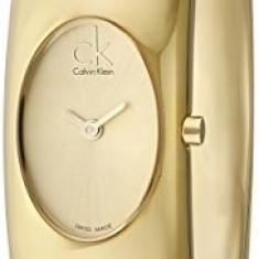 Calvin Klein Women's K1Y23209 Exquisite Gold-Tone | 100% original, import SUA, 10 zile lucratoare af22508 - Ceas dama Calvin Klein, Analog