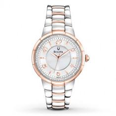 Bulova Women's 98R162 Diamond Case Stainless | 100% original, import SUA, 10 zile lucratoare af22508 - Ceas dama Bulova, Analog
