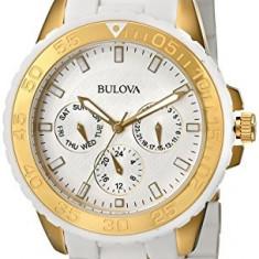 Bulova Women's 98N102 White Rubber Wrapped   100% original, import SUA, 10 zile lucratoare af22508 - Ceas dama Bulova, Analog