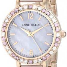 Anne Klein Women's AK 1442RGTP Swarovski | 100% original, import SUA, 10 zile lucratoare af22508 - Ceas dama Anne Klein, Elegant, Quartz, Analog