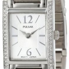 Pulsar Women's PEGC51 Crystal Accented Dress | 100% original, import SUA, 10 zile lucratoare af22508 - Ceas dama Pulsar, Analog