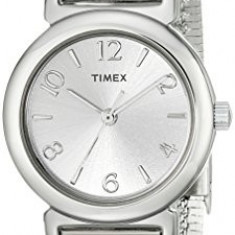 Timex Women's T2P3079J Silver-Tone Watch with | 100% original, import SUA, 10 zile lucratoare af22508 - Ceas dama Timex, Casual, Quartz, Analog