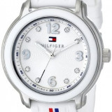 Tommy Hilfiger Women's 1781418 Crystal-Accented Stainless | 100% original, import SUA, 10 zile lucratoare af22508 - Ceas dama Tommy Hilfiger, Casual, Quartz, Silicon, Analog