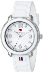 Tommy Hilfiger Women's 1781418 Crystal-Accented Stainless | 100% original, import SUA, 10 zile lucratoare af22508, Casual, Quartz, Silicon, Tommy Hilfiger