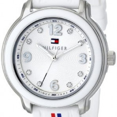 Tommy Hilfiger Women's 1781418 Crystal-Accented Stainless | 100% original, import SUA, 10 zile lucratoare af22508 - Ceas dama Tommy Hilfiger, Silicon, Analog
