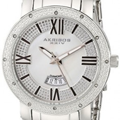 Akribos XXIV Women's AK507SS Diamond Accented | 100% original, import SUA, 10 zile lucratoare af22508, Casual, Quartz, Analog