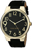 Nine West Women's NW 1652BKBK Gold-Tone | 100% original, import SUA, 10 zile lucratoare af22508, Casual, Quartz, Analog, Nine West