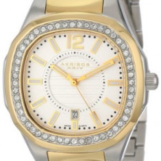 Akribos XXIV Women's AK550TTG Impeccable Crystal | 100% original, import SUA, 10 zile lucratoare af22508 - Ceas dama Akribos, Casual, Quartz, Analog