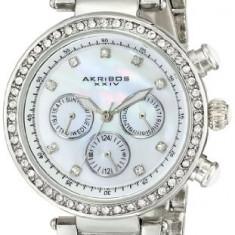 Akribos XXIV Women's AK681SS Lady Diamond | 100% original, import SUA, 10 zile lucratoare af22508 - Ceas dama Akribos, Casual, Quartz, Analog