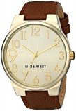 Nine West Women's NW 1652CHBN Gold-Tone | 100% original, import SUA, 10 zile lucratoare af22508, Casual, Quartz, Analog, Nine West