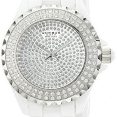 Akribos XXIV Women's AKR457WT Lady Diamond | 100% original, import SUA, 10 zile lucratoare af22508 - Ceas dama Akribos, Analog