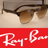 Ochelari Ray Ban Wayfarer ClubMaster - Ochelari de soare Ray Ban, Unisex, Maro, Plastic, Protectie UV 100%
