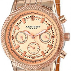 Akribos XXIV Women's AK722RG Lady Diamond | 100% original, import SUA, 10 zile lucratoare af22508 - Ceas dama Akribos, Casual, Quartz, Analog