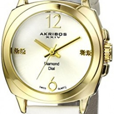 Akribos XXIV Women's AK742YGW Lady Diamond | 100% original, import SUA, 10 zile lucratoare af22508 - Ceas dama Akribos, Casual, Quartz, Analog
