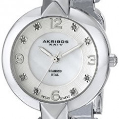 Akribos XXIV Women's AK755SS Lady Diamond | 100% original, import SUA, 10 zile lucratoare af22508 - Ceas dama Akribos, Analog