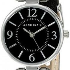 Anne Klein Women's 109443BKBK Silver-Tone Black   100% original, import SUA, 10 zile lucratoare af22508 - Ceas dama