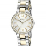 Fossil Women's ES3503 Virginia Crystal-Accented Two-Tone | 100% original, import SUA, 10 zile lucratoare af22508 - Ceas dama Fossil, Analog