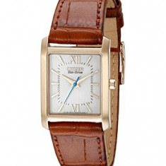 Citizen Women's EP5918-06A Eco-Drive Brown Leather | 100% original, import SUA, 10 zile lucratoare af22508 - Ceas dama Citizen, Analog
