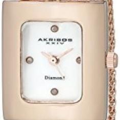 Akribos XXIV Women's AK510RG Mesh Wraparound | 100% original, import SUA, 10 zile lucratoare af22508 - Ceas dama Akribos, Casual, Quartz, Analog