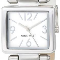 Nine West Women's NW 1589WTWT Rectangular | 100% original, import SUA, 10 zile lucratoare af22508 - Ceas dama Nine West, Casual, Quartz, Analog