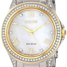 Citizen Women's EM0234-59D Eco-Drive Two-Tone Watch | 100% original, import SUA, 10 zile lucratoare af22508 - Ceas dama Citizen, Analog