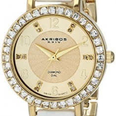 Akribos XXIV Women's AK758YGW Diamond and | 100% original, import SUA, 10 zile lucratoare af22508 - Ceas dama Akribos, Analog